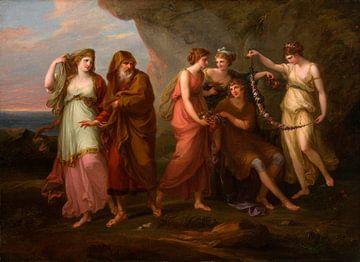 Telemachus und die Nymphen des Kalypso, Angelika Kauffmann