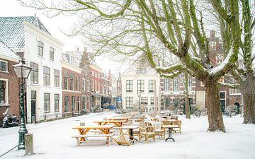 Leiden in de sneeuw sur