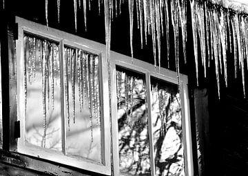 ijspegels voor het raam van joyce kool