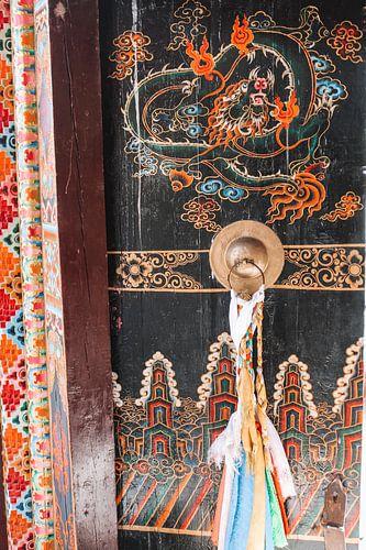 Tibetaanse deur met draak