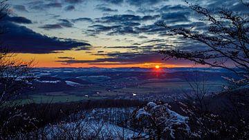 Sonnenuntergang am Gipfelkreuz von Roland Brack