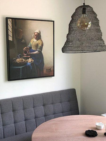 Kundenfoto: Dienstmagd mit Milchkrug - Vermeer gemälde von Schilderijen Nu