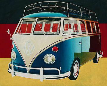 Volkswagen Combi Deluxe uit 1963 voor de Duitse vlag