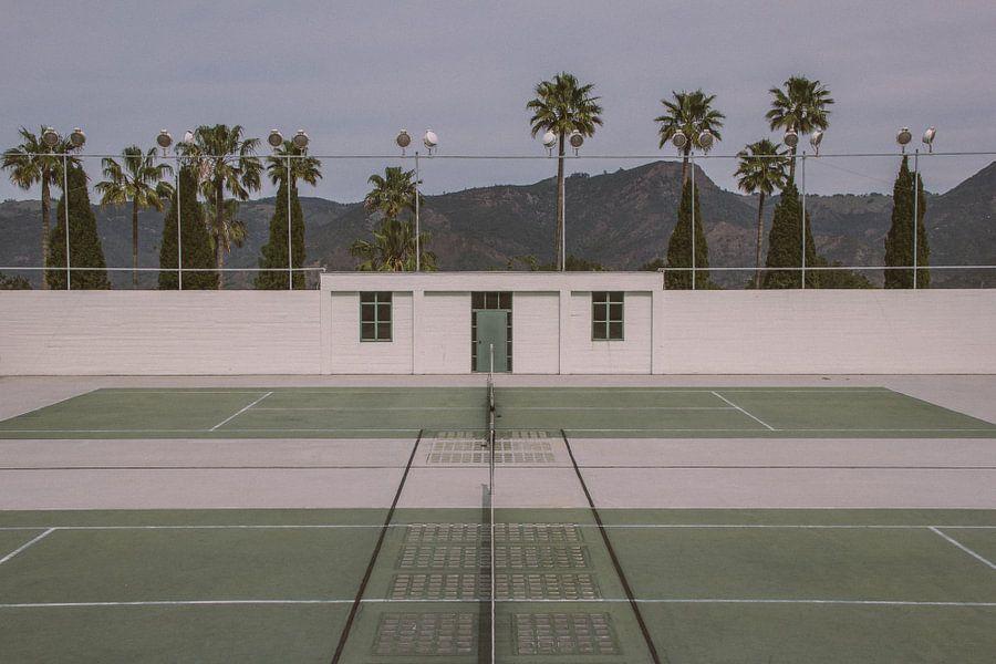 Retro tennisbaan
