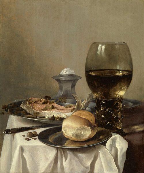 Stillleben mit Salzfass - Pieter Claesz von Meesterlijcke Meesters