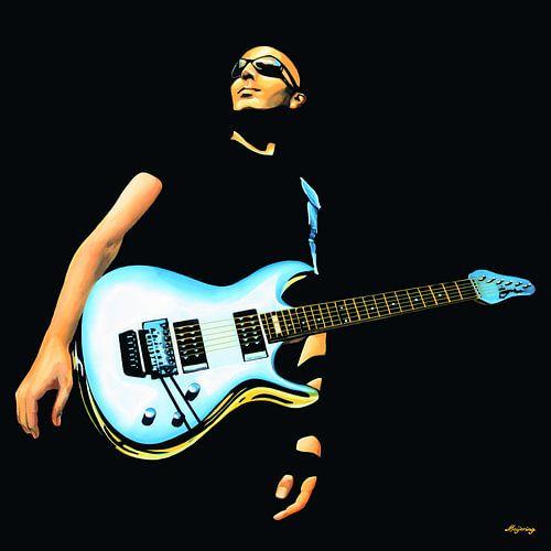 Joe Satriani Schilderij van Paul Meijering