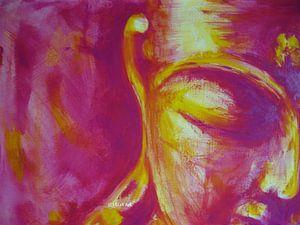 Buddha, pinkyellow by Michael Ladenthin