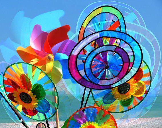 Windmolentjes aan zee! van juvani photo