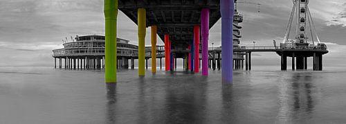 Panorama sous la jetée de Scheveningen
