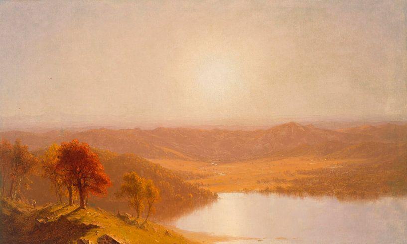 Ein Blick von den Berkshire Hills, nahe Pittsfield, Massachusetts, Sanford Robinson Gifford von Meesterlijcke Meesters