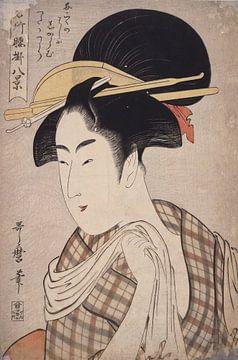 Tenugui] = [Hand-towel], Kitagawa, Utamaro (1753?-1806), (Artist), Date Created: ca. 1793-ca.1804, J sur