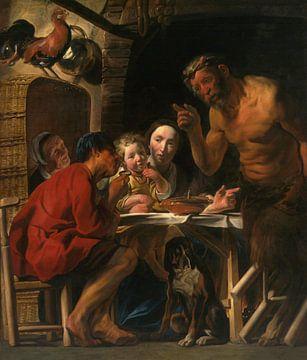 Satyr und der Bauer, Jakob Jordaens