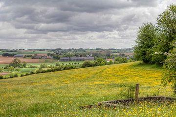 Panorama van dorpje Mechelen in Zuid-Limburg van John Kreukniet