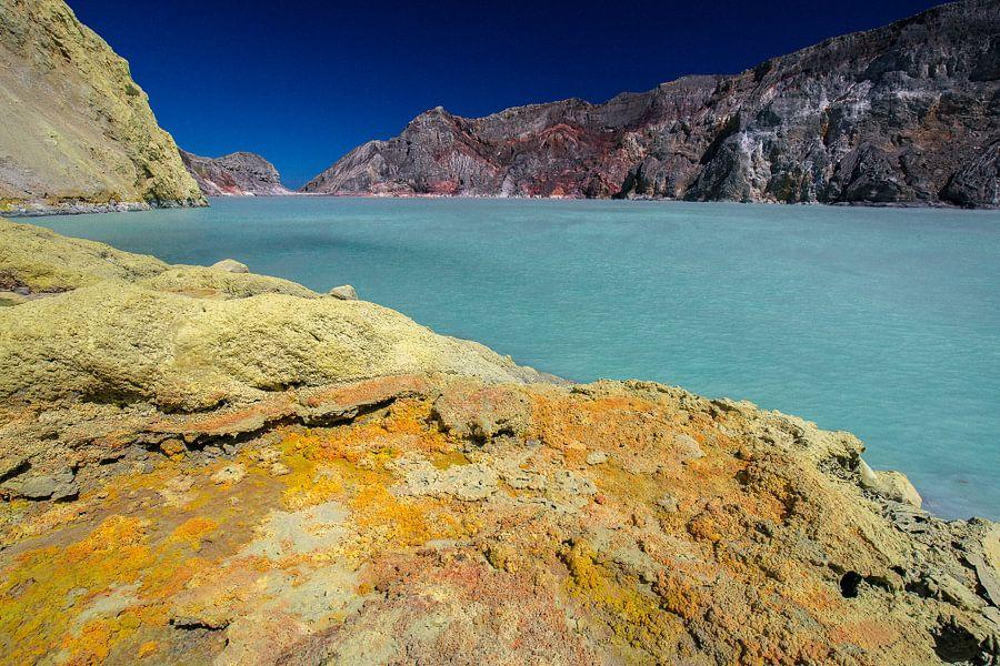 Kratermeer Kawah Ijen vulkaan - Oost-Java, Indonesië