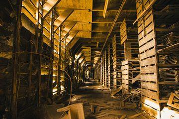 Opslag ruimte verlaten dakpannenfabriek von Dylan Nieuwland