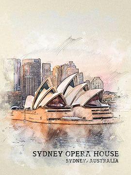 Sydney Opera House van Printed Artings
