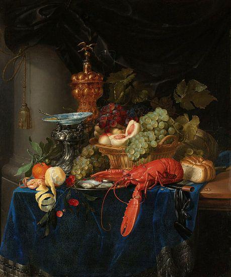 Stilleven met een gouden bokaal, Pieter de Ring