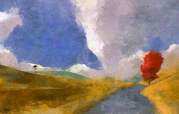 Een regen van zonnestralen van Happylandscape .nl