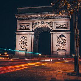 Arc de Triumph by night van Joris Pannemans