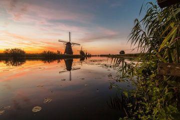 Holländische Mühle in Kinderdijk von PJS foto