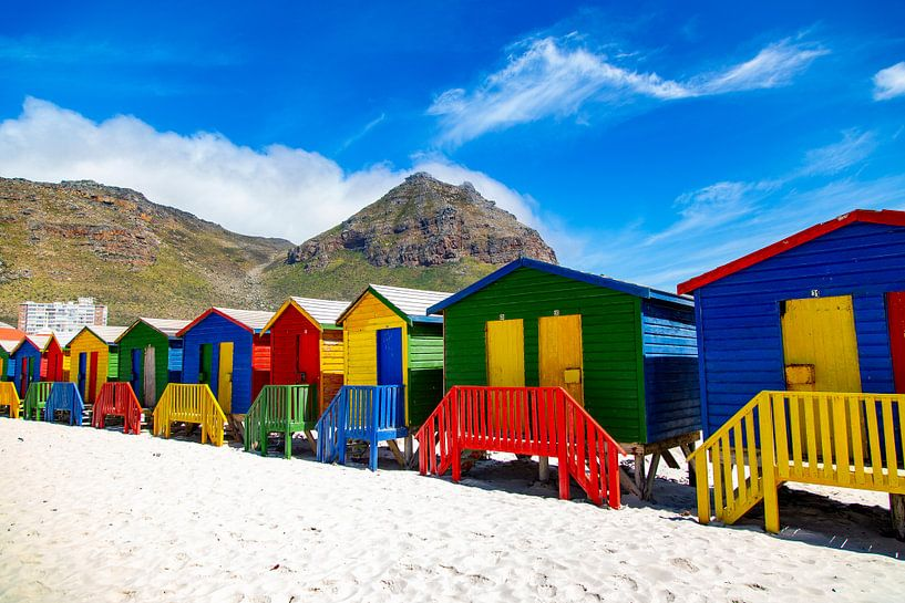 Kleurrijke Bo-kaap, Kaapstad, Zuid-Afrika van Willem Vernes