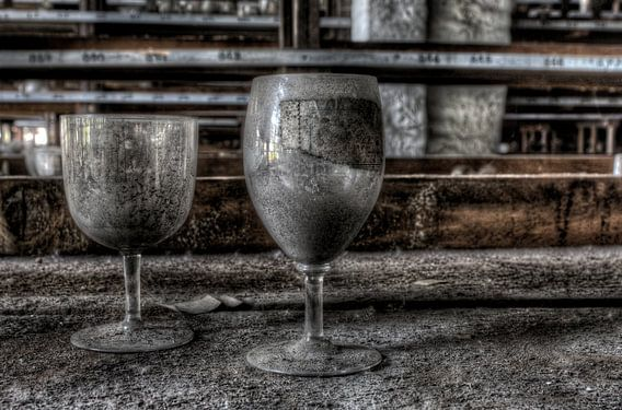 Verlaten glaswerk