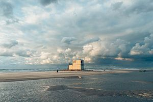 Wolkenlucht boven de Noordzee bij Terschelling van Alex Hamstra