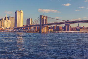 De bruggen in Dumbo New York 13 van FotoDennis.com