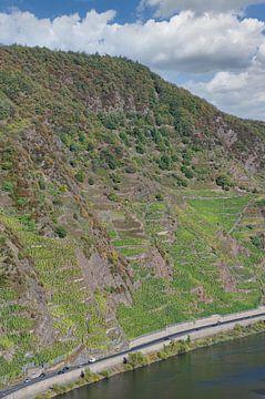 Vue du Calmont sur la Moselle sur Peter Eckert