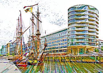 Museumsschiffe in der Hafencity von Leopold Brix