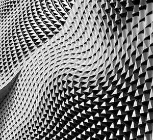 Patroon abstracte golf van geometrische vormen
