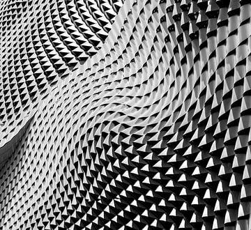 Onde abstraite de motifs de formes géométriques sur Origami Art