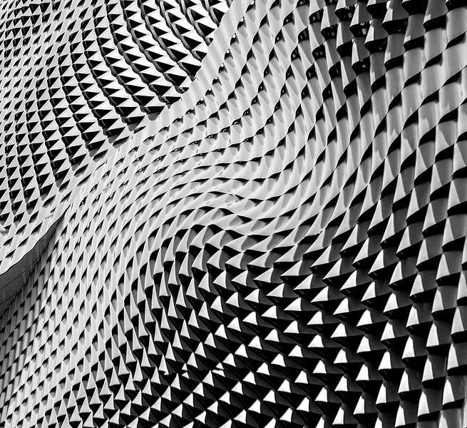 Muster Abstrakte Welle Von Geometrischen Formen Von Origami Art