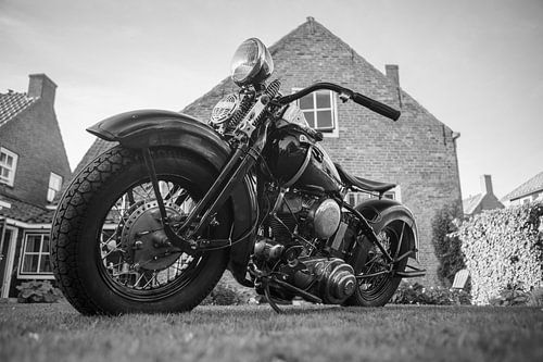 Harley Davidson in Zwart en Wit