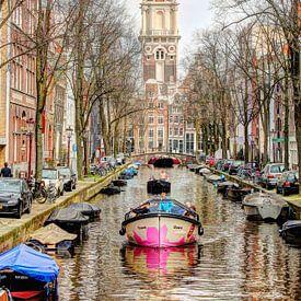Zuiderkerk en Groenburgwal Amsterdam van Hendrik-Jan Kornelis