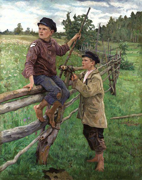 Bauernjungen, Nikolay Bogdanov-Belsky - 1916 von Het Archief