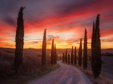 Toscane zonsondergang, Rostov Anton van 1x