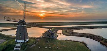 Molen Het Noorden Texel Zonsopkomst van Texel360Fotografie Richard Heerschap