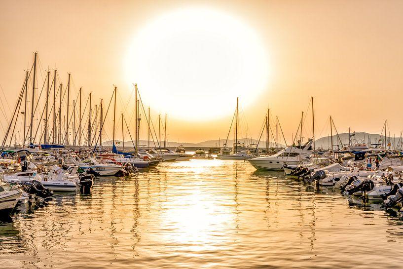 Zonsondergang bij de jachthaven van Rene Siebring