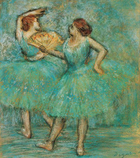 Edgar Degas. Two Dancers, c. 1905 sur 1000 Schilderijen