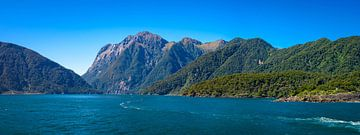 Panorama von Milford Sound, New Zealand von Rietje Bulthuis