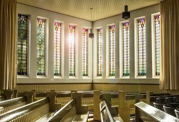 Kerk interieur Amsterdamse school van Bo Scheeringa Photography