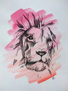 KING - Zeichnung x Aquarell von Claudia Maglio