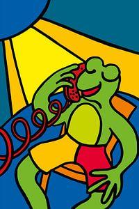 Frosch auf dem Handy