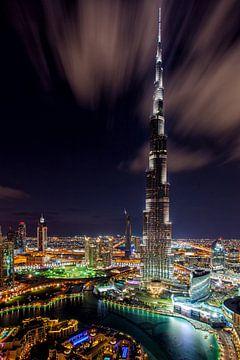 Burj Khalifa 's nachts van Tilo Grellmann | Photography