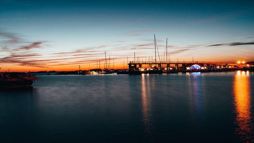 Hafen von Wiek bei Nacht (Rügen) von Denny Lerch