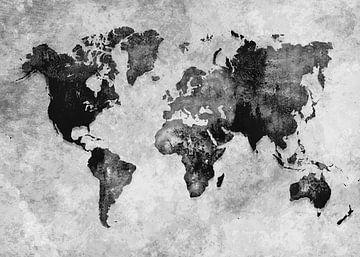 Wereldkaart 39 #kaart #Wereldkaart van JBJart Justyna Jaszke