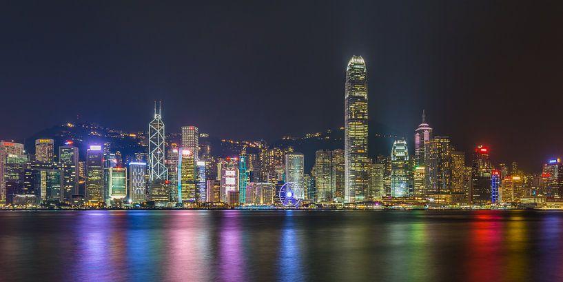 Hong Kong by Night - Skyline by Night - 3 van Tux Photography