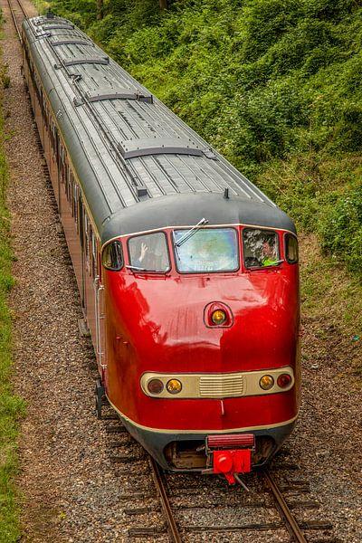 Dieseltrein Simpelveld tijdens de Stoomtreindagen 2014 van John Kreukniet