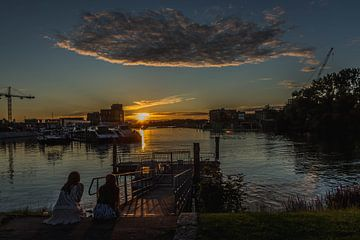Sonnenuntergang Dordrecht von Kristof Mentens